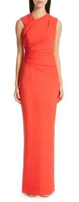 Rachel Gilbert Atlas Stretch Crepe Gown