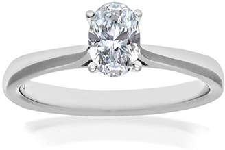 N. Naava EGL Women's 18 ct Yellow Gold 0.62 ct Certified Diamond Solitaire Engagement Ring, Size N, FVS1