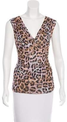 Diane von Furstenberg Leopard Print Silk Top