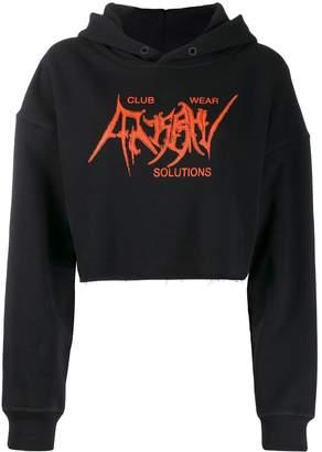 Misbhv cropped logo hoodie