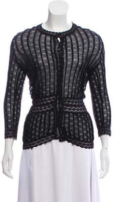 Christian Dior Sheer Knit Cardigan