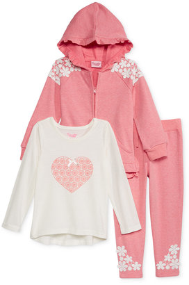 Nannette Little Girls' 3-Pc. Embroidered Hoodie, Top & Leggings Set $54 thestylecure.com