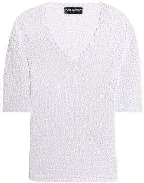 Dolce & Gabbana Crochet-Knit Top