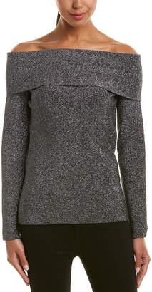 Reiss Jessa Metallic Off-The-Shoulder Sweater