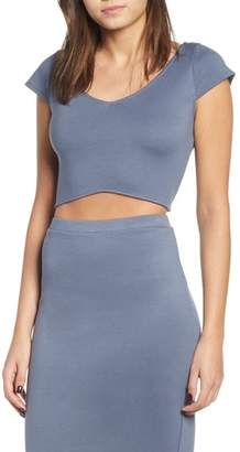 Leith Curved Hem Crop Top