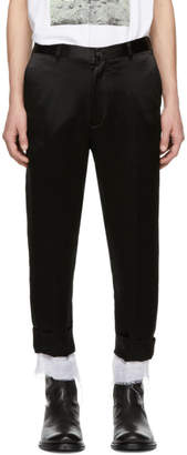 Ann Demeulemeester Black Dropped Inseam Trousers