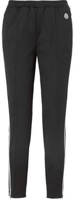 Moncler Striped Jersey Track Pants - Black