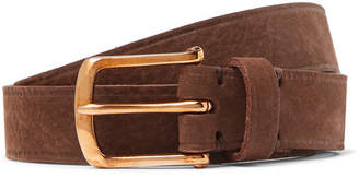Oliver Spencer 4cm Brown Nubuck Belt