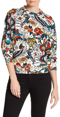 LOVE Moschino Tattoo Print Crewneck Sweater $320 thestylecure.com