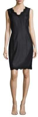 St. John Lace-Trim Dress
