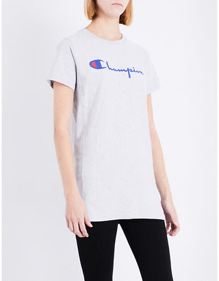 Champion Ladies Grey Round Classic Cotton-Jersey T-Shirt $49 thestylecure.com