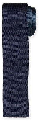 Boss Hugo Boss Colorblock Knit Skinny Tie, Navy $145 thestylecure.com