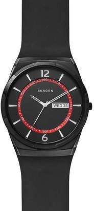 Skagen Melbye Black Silicone Strap Watch, 40mm