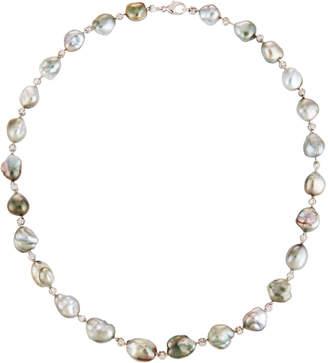 Belpearl 14k White Gold Diamond & Multi-Pearl Necklace