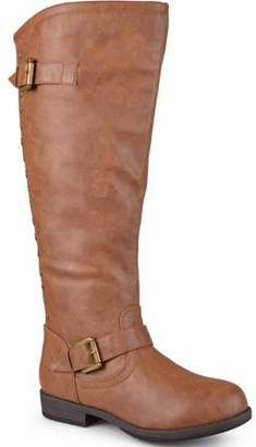 Brinley Co. Women's Extra Wide-Calf Knee-High Studded Riding Boots