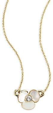 Kate Spade Women's Disco Pansy Mother-Of-Pearl Pendant Necklace