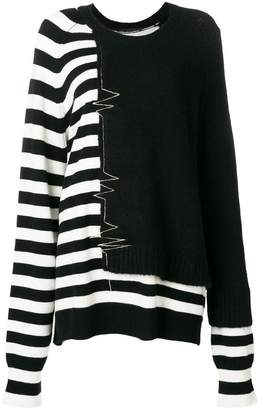 Haider Ackermann striped-detail sweater