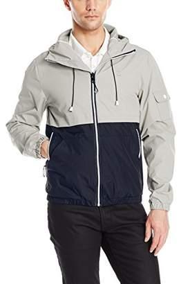 Izod Men's Hooded Water Resistant Windbreaker Jacket