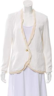 Helmut Lang Tailored Silk-Trimmed Blazer