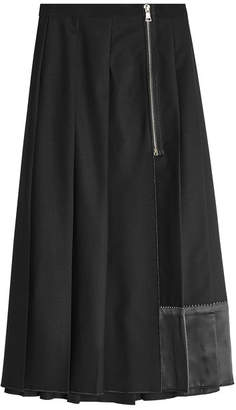 Marc Jacobs Pleated Wool Midi Skirt