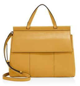 Tory Burch Block-T Leather Satchel $495 thestylecure.com