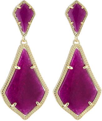 Kendra Scott Alexa Statement Drop Earrings, Purple Jade