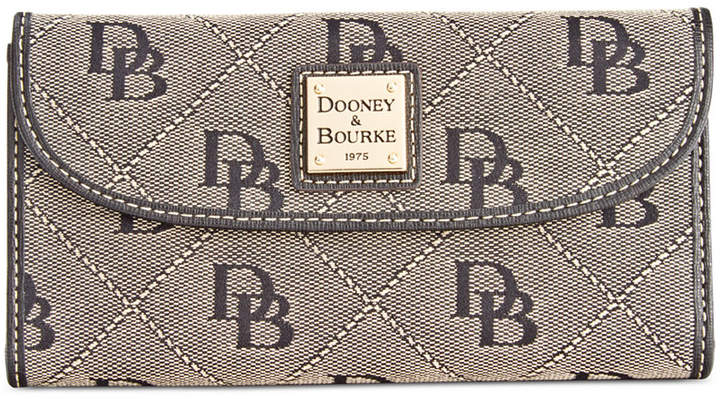 Dooney & Bourke Signature Continental Wallet, Created for Macy's - APRICOT/MARINE - STYLE