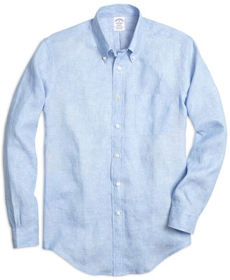 Brooks Brothers Regent Fit Linen Sport Shirt