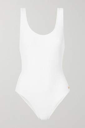 Solid & Striped The Anne-marie Stretch-terry Swimsuit - White