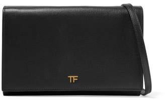 Tom Ford Textured-leather Shoulder Bag - Black