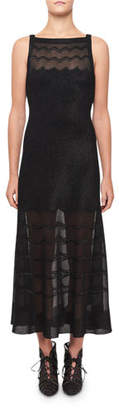 Alaia Squiggled Knit Illusion Dress