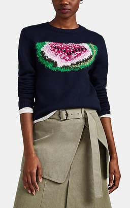 J.W.Anderson Women's Watermelon-Intarsia-Knit Wool Sweater - Navy