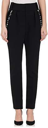 The Row Women's Searl Embellished Stretch-Wool Pants