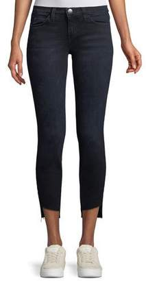 Current/Elliott The Stiletto Skinny-Leg Jeans with Uneven Cut Hem