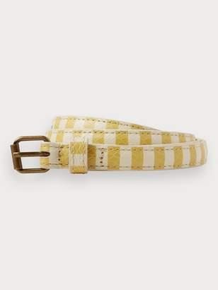 Scotch & Soda Striped Leather Belt
