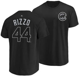 Majestic Men's Anthony Rizzo Chicago Cubs Pitch Black Player T-Shirt