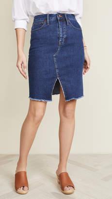 Madewell Indigo Cutout Skirt