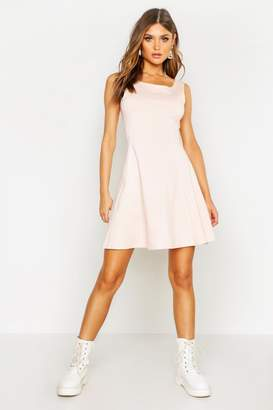 boohoo Seam Detail Skater Dress
