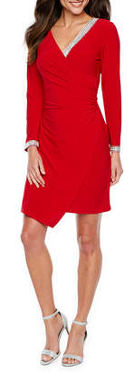 MSK Long Sleeve Embellished Sheath Dress