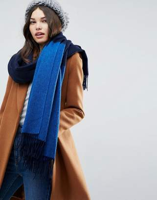 Asos Design Lambswool Coloured Blocked Long Scarf