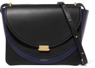 Wandler - Luna Color-block Leather Shoulder Bag - Midnight blue