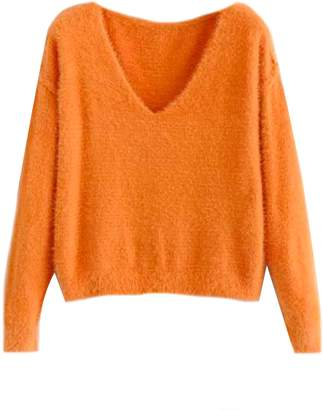 Goodnight Macaroon 'Laquisha' Mohair V-Neck Sweater (7 Colors)