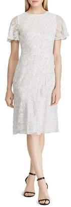 Ralph Lauren Dot-Printed Lace Dress