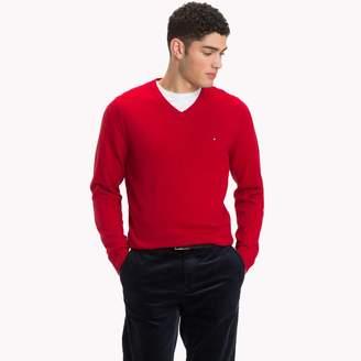 Tommy Hilfiger Cotton Cashmere V-Neck Sweater