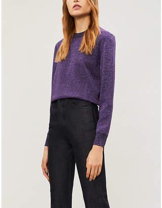 Joseph Metallic-knit lurex jumper