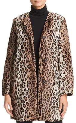 Marella Neuve Leopard-Print Faux-Fur Coat - 100% Exclusive