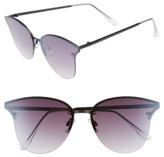 Leith 61mm Rimless Cat Eye Sunglasses