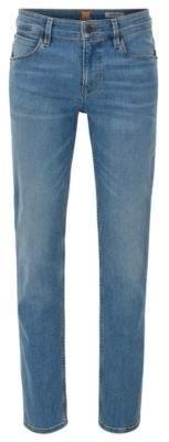 BOSS ORANGE Hugo Boss 11.25 oz Cotton Jeans, Slim Fit Orange 63 36/34 Turquoise