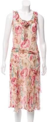 Blumarine Floral Print Maxi Dress