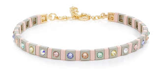 Swarovski Roxanne Assoulin Put It In Neutral Enamel Crystal and Gold-Tone Choker
